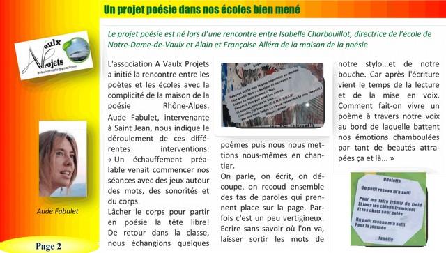 le mensuel de Notre Dame de Vaulx