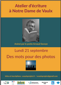 Atelier d'écriture avec Arnaud Savoye