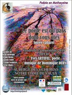 Soirée cabaret à l'auberge de Notre Dame de Vaulx